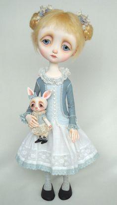 Blue Alice - original doll by Ana Salvador