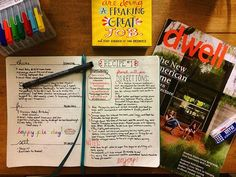 I love being able to keep resources like notes and recipes in my bullet journal…