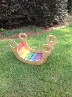 child s rainbow rocker toy diy more diy wooden toy kids woodcraft ...