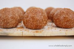 Nut Free No Blend Bliss Balls. Simple, delicious and free from gluten, grains, dairy, egg, nuts and refined sugar. Enjoy.