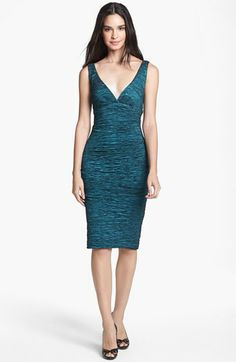 Calvin Klein Metallic Lace Sheath Dress available at #Nordstrom ...