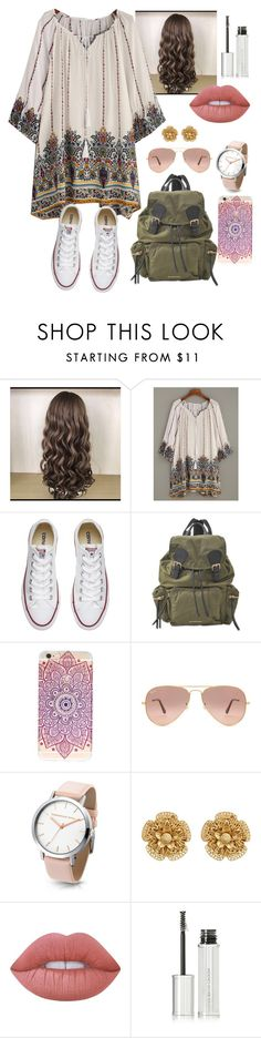 """Untitled #75"" by jenny-malik19 ❤ liked on Polyvore featuring Converse, Burberry, Ray-Ban, Miriam Haskell, Lime Crime and Givenchy"