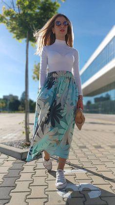 Riasená sukňa Salome s vreckami / ajkadizajn - SAShE.sk