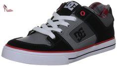 DC Shoes Pure Kids Shoe, Chaussures de skate garçon - Noir (Blk/Redpld), 36 EU (5K US) - Chaussures dc shoes (*Partner-Link)