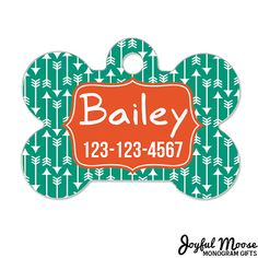 Personalized Pet ID Tag - Personalized Pet Tag - Custom Pet ID Tag - Arrow Dog Name Tag - Dog ID Tag - Dog Collar Name Tag #bestofEtsy #etsyretwt