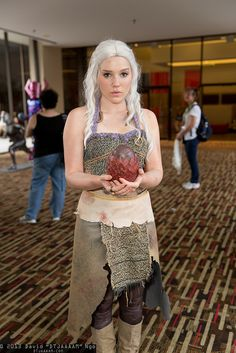 """""""With this egg, I shall conquer the world!"""" Daenerys Targaryen #Cosplay   DragonCon 2013"""