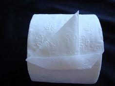 Toilet Paper Origami Sailboat velero