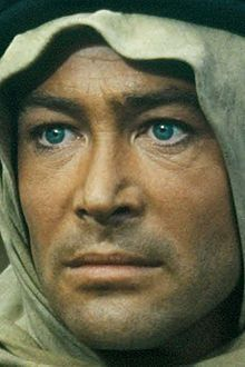 Peter O'Toole in the film that made him famous. He had the bluest eyes.