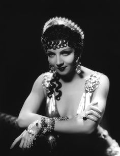 curls, brows, and baubles (Claudette Colbert)