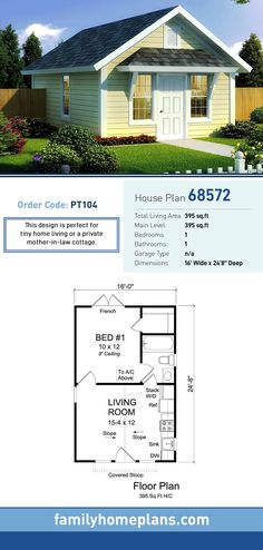 Traditional Style House Plan 68572 with 1 Bed 1 Bath Traditional Style House Plan 68572 with 1 Bed 1 Bath D mostprinzessin Mikrohaus-Design Tiny House Plan 68572 Total Living nbsp hellip 1 Bedroom House Plans, Living Room Floor Plans, Small House Plans, House Floor Plans, Tiny Home Floor Plans, Shed House Plans, Cabin Plans, The Plan, How To Plan