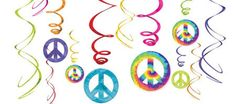 Groovy 60's Swirl Decorations Value Pack | 12pc