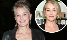 Sharon Stone, paraded her edgier new pixie crop while heading out to an Ed Sheeran concert in Los Angeles on Saturday. Choppy Pixie Cut, Short Pixie Haircuts, New Haircuts, Pixie Hairstyles, Short Hairstyles For Women, Short Hair Cuts, Short Hair Styles, Sharon Stone Short Hair, Sharon Stone Hairstyles
