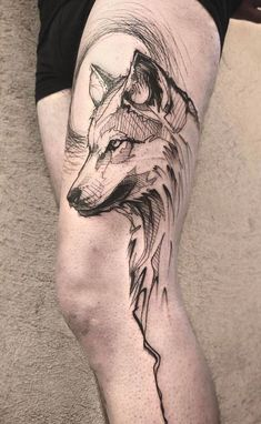 wolf tattoo design Spirit Animal is part of Wolf Tattoo Designs Magnificent Designs Ideas Inkdoneright - Cafer tatuajes wolf tattoo Wolf Tattoo Back, Small Wolf Tattoo, Wolf Tattoo Sleeve, Lion Tattoo, Sleeve Tattoos, Tattoo Wolf, Wolf Sleeve, Tribal Sleeve, Chest Tattoo