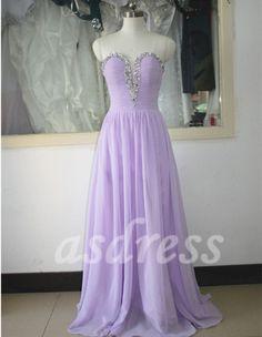 Lilac chiffon Sweetheart bridesmaid dresses Lavender by ASDRESS