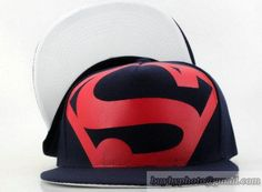 Superman Snapback Adjustable Hats Caps Navy Red 176