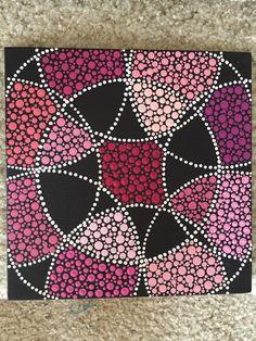 Shades of Pink Dots 8x8