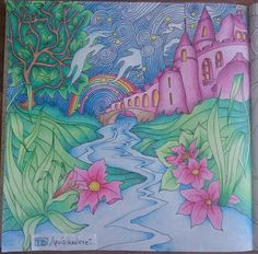 Castle on the Hill #adultcoloring #lizziemarycullen #themagicalcity #arttherapy