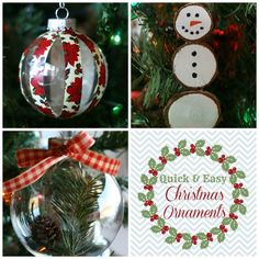 Quick & Easy Christmas Ornaments | See how to make these three easy ornaments in just minutes with only a few supplies!
