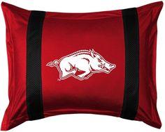 Sports Coverage Arkansas Razorbacks Standard Pillow Sham