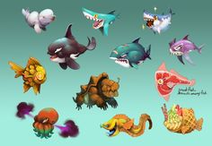 ArtStation - Hungry Shark World - Pets!, Johanna Cranston
