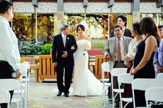 Walking down the aisle on the Fire Pit. brookhavenclub.com