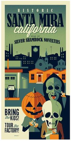Another awesome Tom Whalen ( http://strongstuff.net ) poster for Halloween 3. WANT!