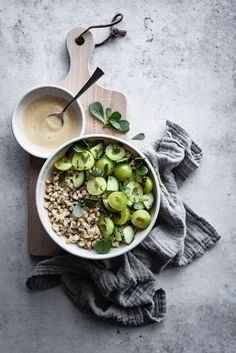 ... green plum cucumber wheat berry salad ...