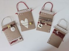 clear colours: Little kraft bags
