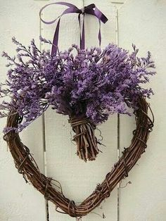 Lavender-topped heart.