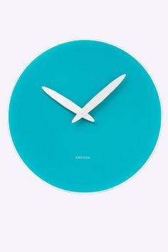 Turquoise Bold Hand Clock