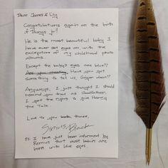 Sirius Black's letter... @lucyweasIey