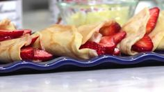 These French crepes are thin and delicate pancakes that can be filled with anything you like, such as fresh fruit, chocolate sauce, and whipped cream.