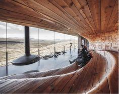 Norwegian Wild Reindeer Centre Pavilion Overlooking the Mountain Snøhetta