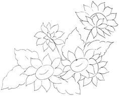 Awesome riscos para pintura em tecido de flores