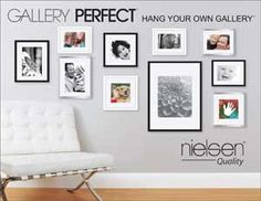 how to hang 5 8x10 picture frames on the wall | ... Frames - Gallery Perfect Kits - The Picture Frame Co. Online Frame Picture Frame Store, Cheap Picture Frames, 8x10 Picture Frames, Picture Wall, Photo Wall, Spare Room Decor, Wall Design, House Design, Wall Ideas