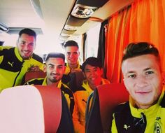 Ilkay Gündogan, Roman Bürki, Shinji Kagawa, Julian Weigl and Marco Reus