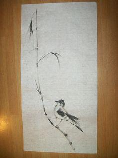 Uccellino Sumi-e