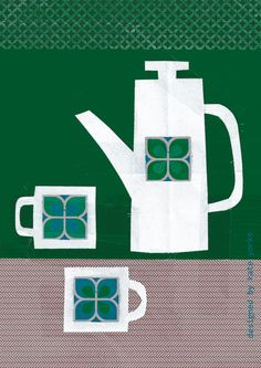 new tea towel design - kate yorke