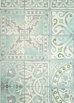 Paper Tiles Patchwork Jade | Louise Body Paper Tiles