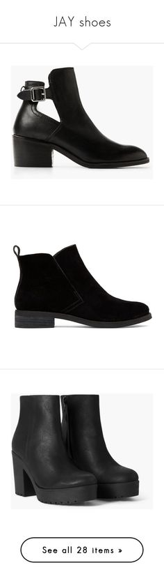 """JAY shoes"" by strawberryfelton on Polyvore featuring shoes, boots, ankle booties, black, black buckle booties, short black boots, black shootie, buckle booties, black ankle booties und bootie boots"