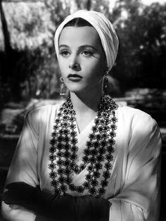 Hedy Lamarr in a turban