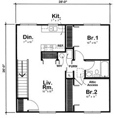 Garage Apartment Plans – It\'s only less than 300 sq ft but without ...