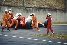 Alain Prost controversially collides with Ayrton Senna during the Japanese Grand Prix - 22 October 1989