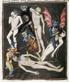 Demons From The Livre de la vigne nostre Seigneur, 1450 - 70 (9)