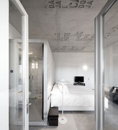 Bedrooms. White and clean with inspiration on the ceiling.