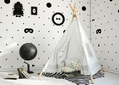 Indian Tipi für Kinderzimmerdekoration - http://schickmobel.com/indian-tipi-fur-kinderzimmerdekoration/