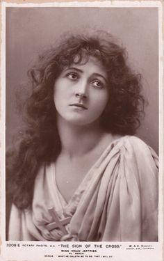 Stage Actress Maud Jeffries as Mercia..circa 1906