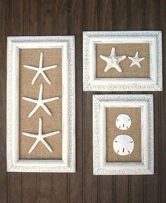 Trio de décor de mur côtier Cottage Chic par OMearasCottageCharm