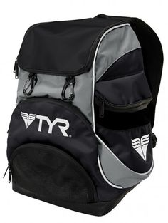 "TYR the Alliance Mini Backpack showcases a condensed 16.5"" x 11.25"" x 8.75"" design for easy transport and reduced bulk. Featuring an internal goggle saver pocket, digital media pocket and reinforced inner pockets that add strength and durability, the Alliance Team® Mini Backpack is built for the long haul. Suit hanger carabiners provide added versatility, while a large wet/dry compartment allows for quicker drying and reduced odor."