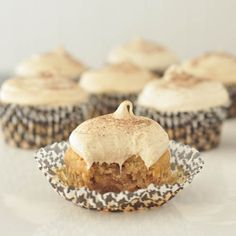 chai spice hominy cupcakes - gluten free, egg free, dairy free...joy